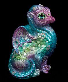 "Windstone ""Froot Loops 1"" Fledgling Dragon Figurine Test Paint Statue | eBay #dragon #fantasy #art"
