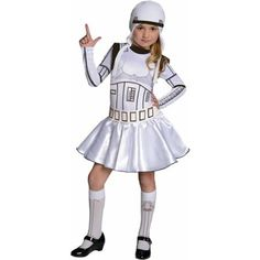 Star Wars Storm Trooper Tutu Child Dress Up / Role Play Costume