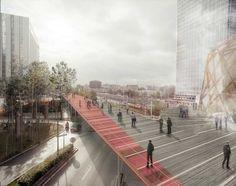 Reorganización de La Défense, el distrito financiero central de París - ARQA