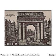 Vintage Arc de Triomph Photo Poster