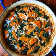 Sweet Potato-Coconut Curry with Black-Eyed Peas & Collard Greens Recipe on Quick Collard Greens Recipe, Crockpot Collard Greens, Southern Collard Greens, Collard Greens And Black Eyed Peas Recipe, Red Mustard Greens Recipe, Collard Green Soup, Vegetarian Curry, Vegetarian Recipes, Diet