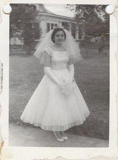 Vintage Brides — 1956 bride Maria Floresville, Texas