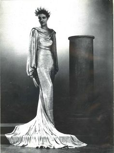 Neoclassical evening gown by Jeanne Lanvin, c. 1935, from the book Paris Couture, Années 30by Guillaume Garnier