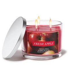 Avon Home Autumn Fragrance Fresh Apple Candle