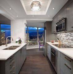 Glamour in a newly finished downtown penthouse.