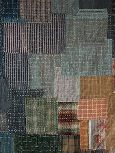 Bedcover stitched from zokin. Srithreads - wonderful site.