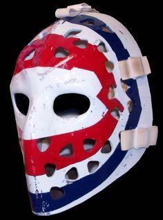 The Ken Dryden mask. This haunted my dreams as the Dryden almost single-handedly beat the Boston Bruins in the Hockey Helmet, Hockey Goalie, Hockey Teams, Football Helmets, Montreal Canadiens, Ken Dryden, Hockey Pictures, Hockey Rules, Goalie Mask