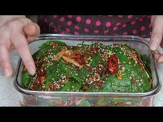 Korean Side Dishes, Korean Food, Seaweed Salad, Kimchi, Cooking Tips, Deserts, Pudding, Ethnic Recipes, Youtube