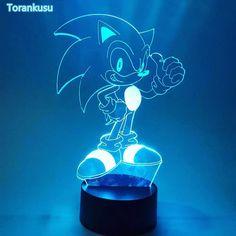 Sonic Nightlight Visual Illusion LED RGB Changing Sonic The Hedgehog Action Figure Novelty Light For Christmas G Christmas Gift Games, Christmas Fun, Night Light, Light Up, Sonic The Hedgehog 4, Novelty Lighting, Streamers, Light Decorations, Gifts For Kids
