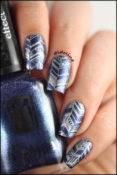 Moyra Suede Effect Stamping & Messy Mansion ~ Didoline's Nails