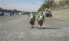Walking - sometimes the nicest way of  getting round Prague (Transport)