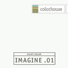 Colorhouse IMAGINE .01:  Absent of color. Museum white. Walls, trim and ceilings.