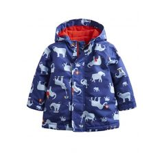 Joules Baby Boys Barnaby Wellphants Waterproof Jacket at Wellies and Worms