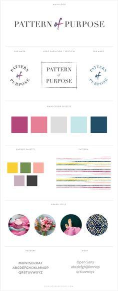 Pattern of Purpose brand design by Nesha Designs