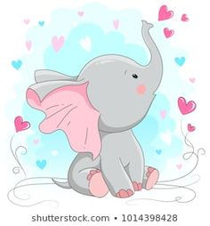 Find Cute Elephant Vector Illustration Cartoon Hand stock images in HD and millions of other royalty-free stock photos, illustrations and vectors in the Shutterstock collection. Baby Elephant Drawing, Cute Elephant Cartoon, Mom And Baby Elephant, Elephant Baby Showers, Elephant Art, Baby Elephants, Indian Elephant, White Elephant, Clipart Baby