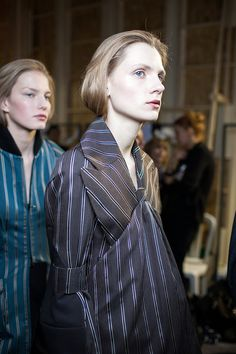 Backstage at Maison Martin Margiela's Fall 2013