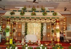 Check out the delightful marriage Halls in Chennai. Book best halls at affordable price only at bookmyfunction Indian Wedding Stage, Tamil Wedding, Wedding Mandap, Indian Weddings, Wedding Backdrops, Wedding Walkway, Stage Backdrops, Wedding Ceremony, Hindu Weddings