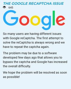 Concerning Google ReCaptchas across majority of #faucets #wearenotrobots #letsfixthis - Just came across this and thought it was only right to share! Makes sense for the last 2 weeks of heartache!