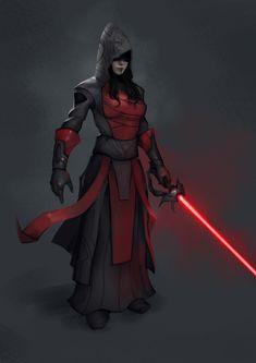 Sith Inquisitor, Vincentius Matthew on ArtStation at https://www.artstation.com/artwork/80kGR