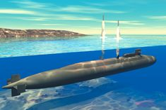 Ohio Class Submarine | File:Ohio-class submarine launches Tomahawk Cruise missiles (artist ...