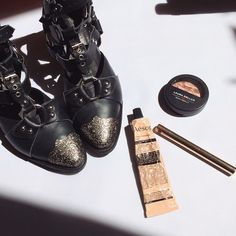 Annabel with kickass Jeffrey Campbell booties || Shop studded boots for your summer feet: http://www.nastygal.com/search?q=studded+boots&utm_source=pinterest&utm_medium=smm&utm_term=ngdib&utm_content=omg_shoes&utm_campaign=pinterest_nastygal