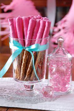 Pink Princess Party Pretzel Treats