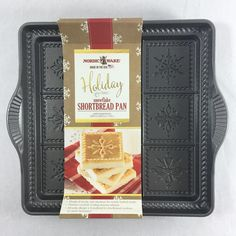 "Nordic Ware Holiday Snowflake Cast Aluminum Shortbread Pan 8.9"" Square NEW #NordicWare"