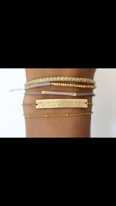 Thin and layered look. Personalized Gold Bar Bracelet / Inspiration, Name Bar Bracelet / Personalized Jewelry. The Large Legacy Bar Bracelet, Layered + Long Ring Armband, Gold Armband, Jewelry Accessories, Fashion Accessories, Fashion Jewelry, Jewelry Ideas, Gold Fashion, Jewelry Trends, Do It Yourself Schmuck