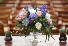 flower studio AZ and jesi haack Floral Wedding, Wedding Bouquets, King Protea, Popular Flowers, Elegant Centerpieces, Flower Studio, Succulents, Reception, Table Decorations