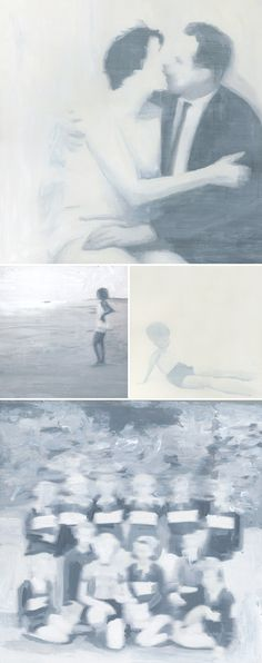"""paintings by lisa golightly (from her """"fade away"""" series)"""