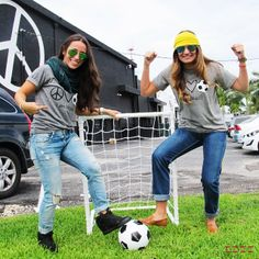 What team are you rooting for today? Shop our soccer tees online and in stores! #peaceloveworld #worldcup #brazil2014 #brazil #mexico