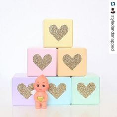 Loving my new Pastel Rainbow Glitter Heart wooden blocks from @lillypillyarts   If your looking for more amazing #handmade products, #decorinspo & abit of behind the scenes action make sure you check out my new page @styledandsnapped  #Repost @styledandsnapped with @repostapp. ・・・