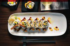 earls kitchen and bar food calgary City Restaurants, Prawn, Calgary, Sushi, Sausage, Mango, Rolls, Bar Food, Ethnic Recipes