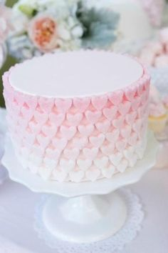 pink ombre heart cake - so cute!