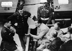 Nazi Hermann Goering Speaking at His Trial. Nuremberg Trials, Ww2 History, The Third Reich, Fighter Pilot, Men Stuff, World War I, Belle Epoque, Old Pictures
