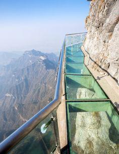 Glass Skywalk Tianmen Mountain China