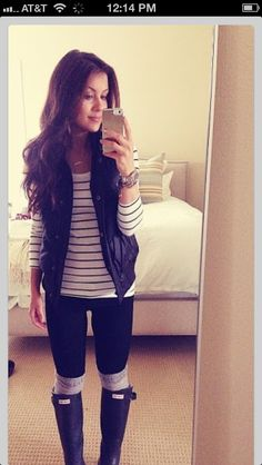 Cute way to style a vest