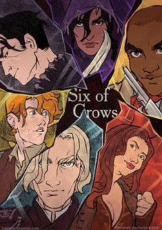 Six of Crows by haimeART on DeviantArt Six Of Crows Characters, Book Characters, Fictional Characters, Fantasy Characters, Fanart, Crooked Kingdom, The Grisha Trilogy, Book Nerd, Artist's Book