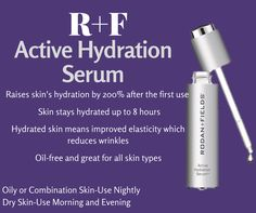 Active Hydration Serum boosts your skins hydration 200% after the first use and contains 30% glycerin! The active piece of the name means it works all day to attract moisture from the atmosphere to creates water reservoir over the top layer of your skin! This product works for dry hands as well! If you know someone whose profession requires a lot of handwashing and they cannot overcome the dryness of their hands...recommend this product!