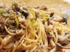 Spaghetti aux champignons et à la sauge - Feminin Bio