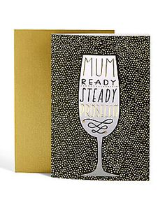 Gold Foil Prosecco Mother's Day Card