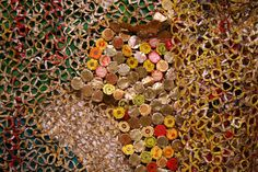 El Anatsui is an internationally acclaimed artist from Ghana who transforms simple materials into complex assemblages that create distinctive visual impacting contemporary art. Contemporary African Art, Contemporary Artists, Bottle Top Art, Bottle Caps, Social Art, African Artists, Book Sculpture, Textiles, African American Art