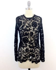 Sonia Guipure Lace Shirt, Black Crochet Blouse, Fitted Shirt, Lace Blouse, Crochet Tight Top  Classic embroidered fitted shirt to wear with skinny jeans and A-line skirt...   https://nemb.ly/p/V1WuJNPuW Happily published via Nembol