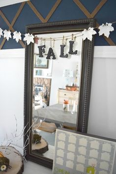 Our house, now a home: How to make a simple fall garland