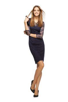 Banana Republic L'Wren Scott Collection - Blue Lace Dress Petite Dresses, Trendy Dresses, Sexy Dresses, Dresses For Sale, Casual Dress Outfits, Modern Outfits, Party Outfits, Party Dresses, Flower Girls