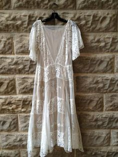 whitedress bohemiandress bohemian dress lace dress crochet dress