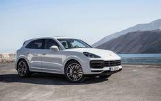 Download wallpapers 4k, Porsche Cayenne Turbo, 2018 cars, SUVs, new Cayenne, german cars, Porsche