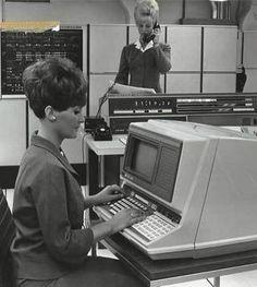 Office computer in the 60s