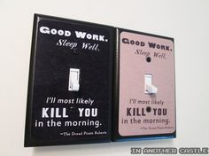 Sleep Well Light Switch Princess Bride by InAnotherCastleDecor, $10.00