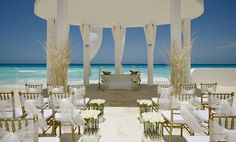 Heavenly set up at the Le Blanc Spa Resort in Mexico!